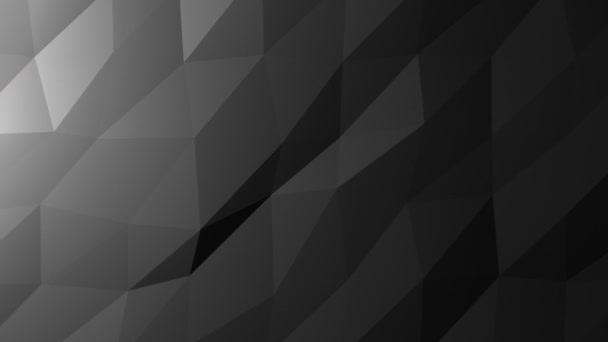 Low Poly pozadí, tmavě šedá. Krásné mozaiky digitální mřížku pozadí smyčky pro tituly a přívěsy, animovaný jako vodnaté plovoucí vlna.
