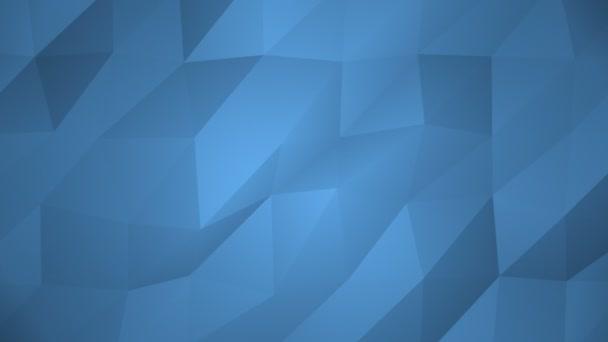 Low Poly pozadí, modré. Krásné mozaiky digitální mřížku pozadí smyčky pro tituly a přívěsy, animovaný jako vodnaté plovoucí vlna