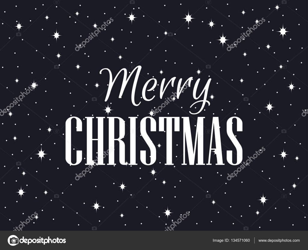 Weihnachtsbilder Merry Christmas.Merry Christmas Black Background With Snowflakes And Stars Vector