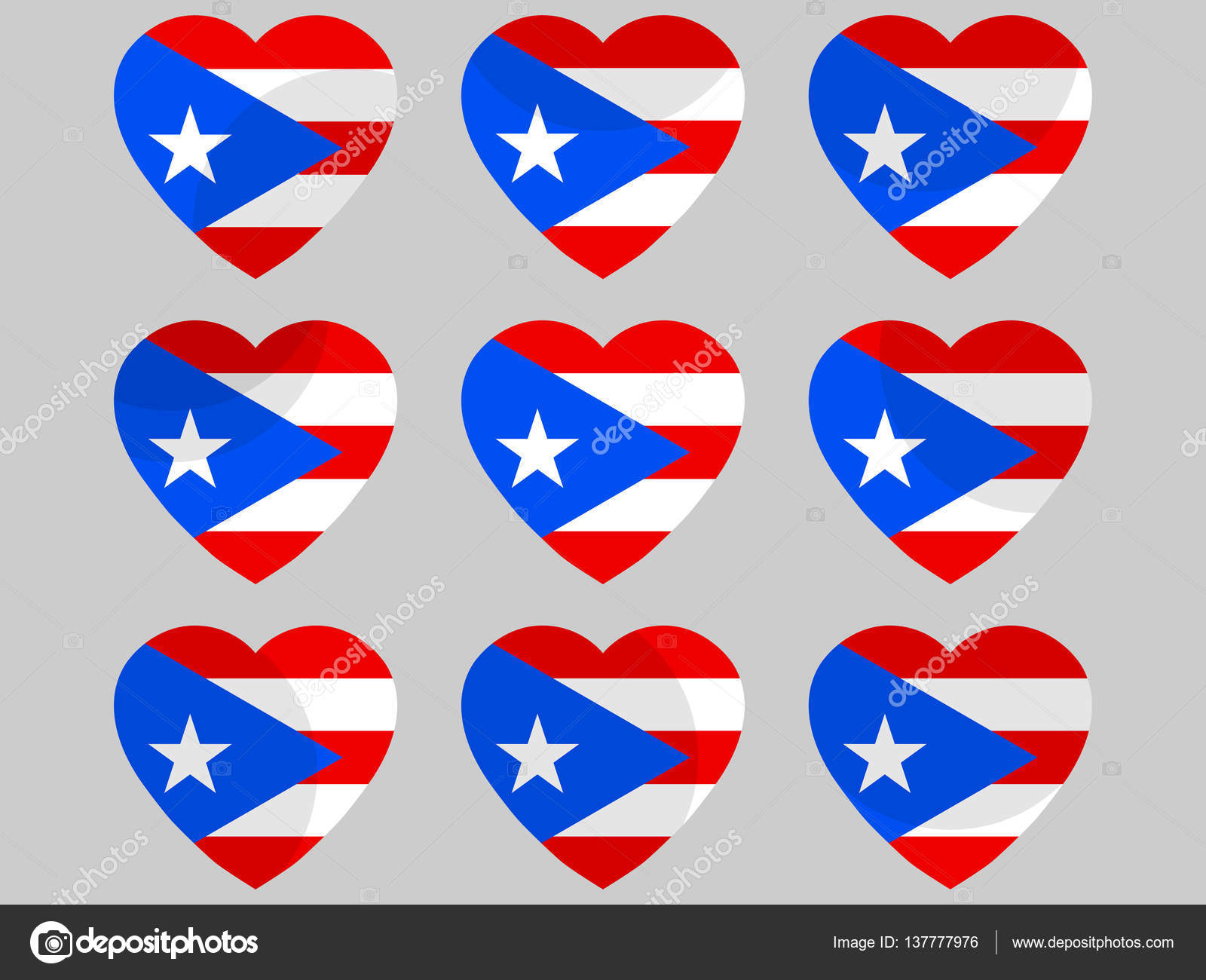 Heart with puerto rico flag i love puerto rico vector heart with puerto rico flag i love puerto rico vector illustration stock vector biocorpaavc Choice Image