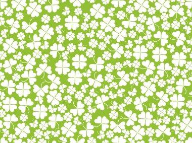 Happy St. Patrick's. Clover seamless pattern. Vector illustration