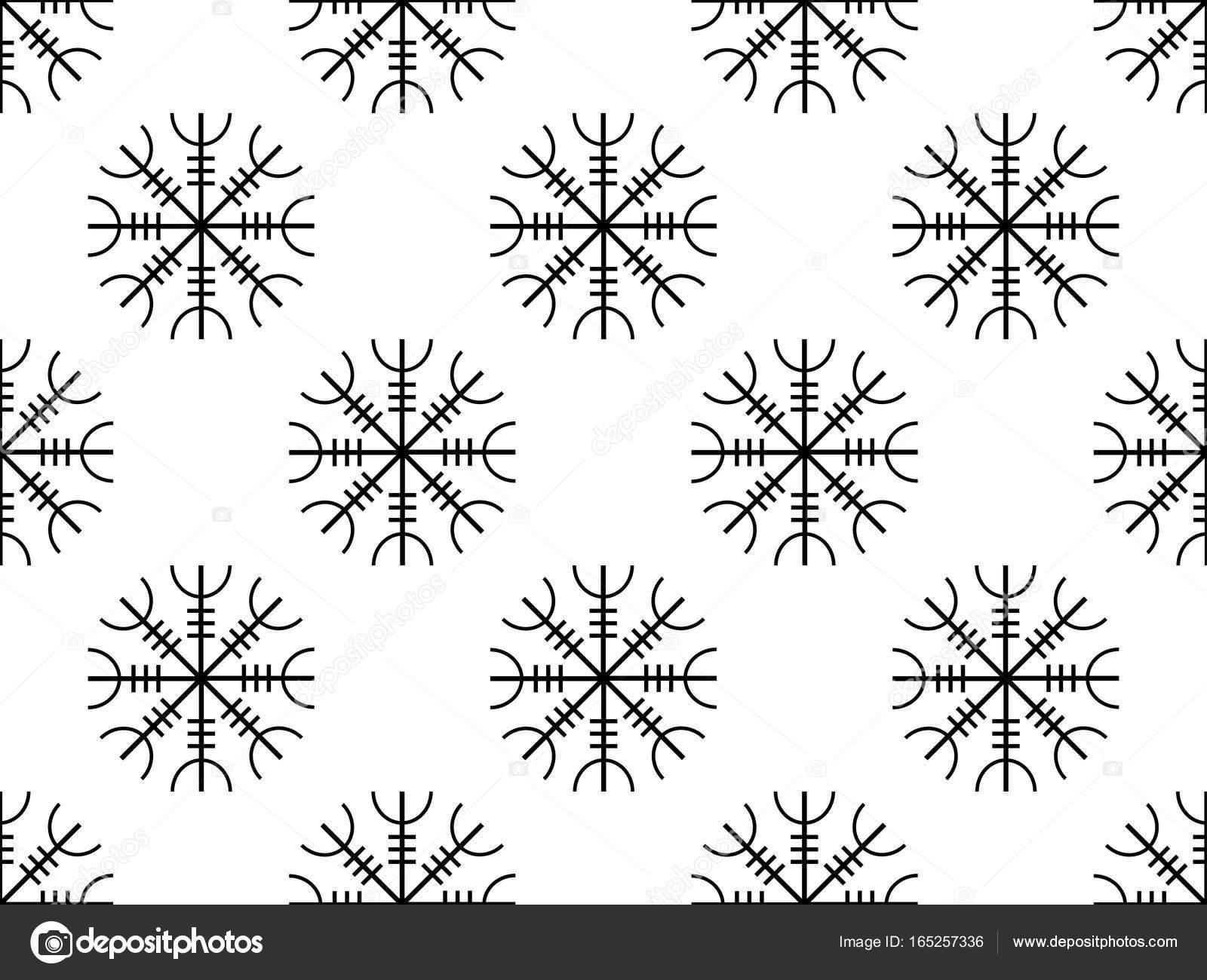 Galdrastafir runas antiguas de patrones sin fisuras, runas ...