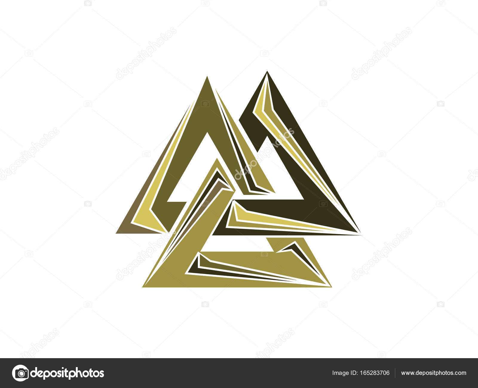 Valknut is a symbol of the worlds end of the tree yggdrasil sign valknut is a symbol of the worlds end of the tree yggdrasil sign of the god odin norse culture triangle logo vector illustration vector by buycottarizona
