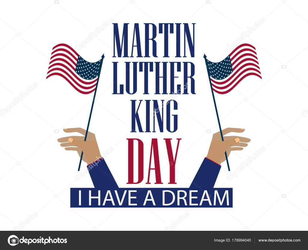Martin Luther King Day The Hand Holds The Flag Of The United States