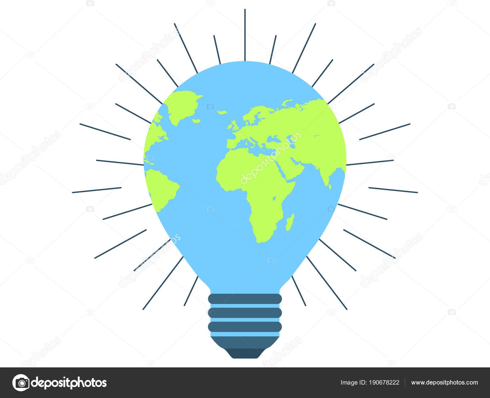 Earth day 22 april clean energy light bulb world environment day earth day 22 april clean energy light bulb world environment day vector illustration vector by andyvinnikov ccuart