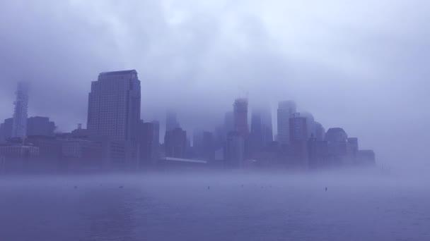 New York City Panorama mlžný den
