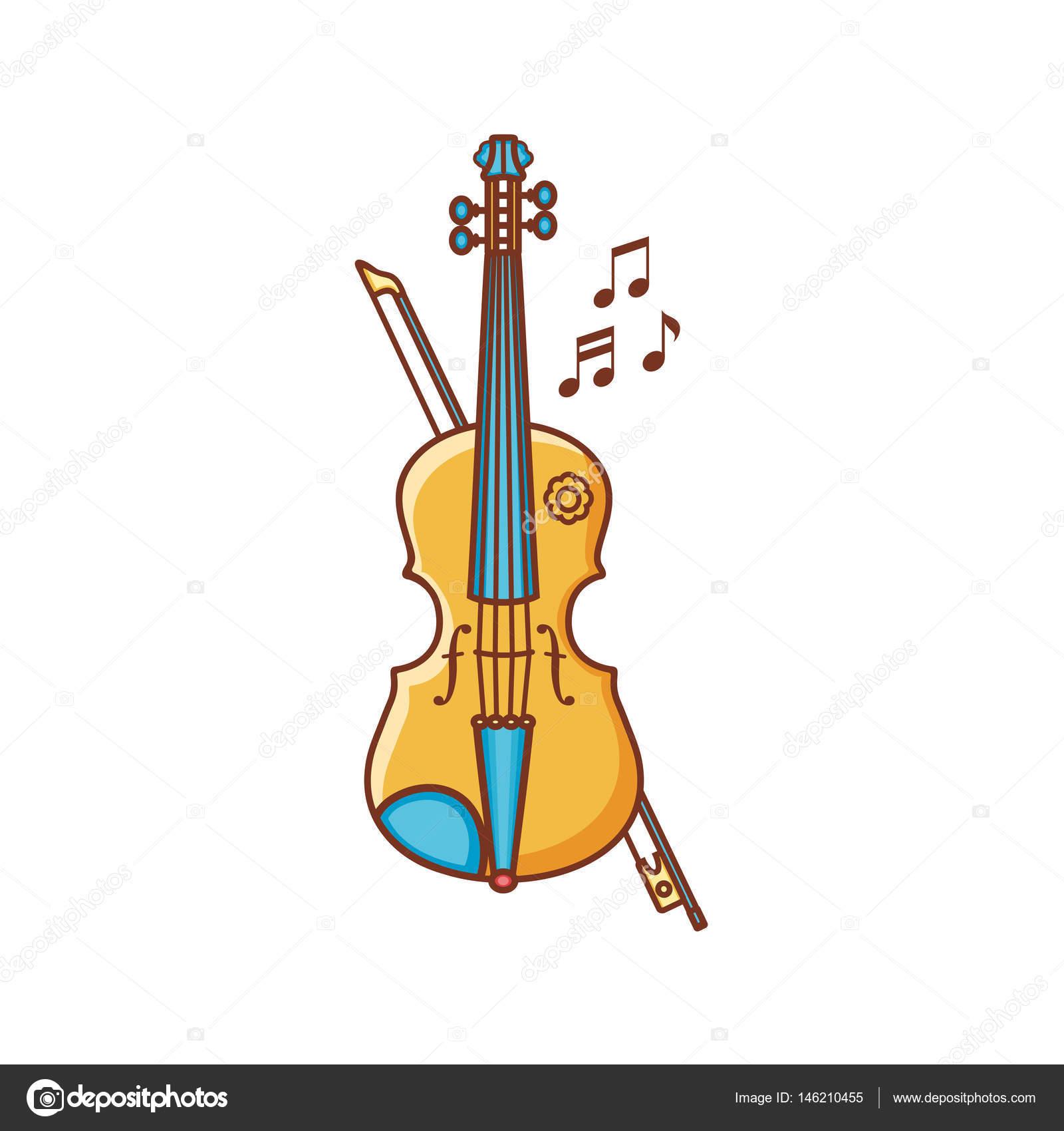 Dibujos Dibujo De Violin A Color Violín Instrumento Musical
