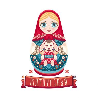 Matryoshka. Babushka doll. Set