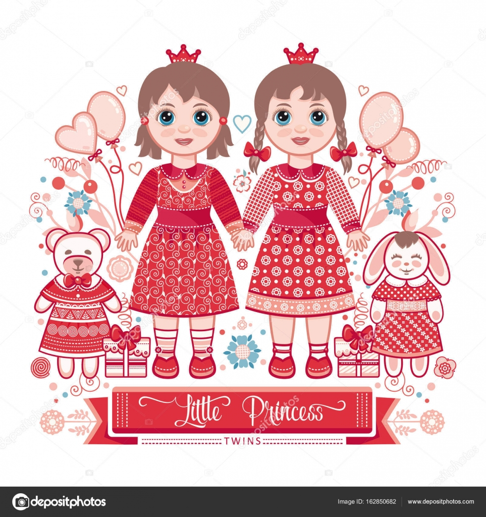 Happy birthday greetings card for girl stock vector zzn happy birthday greetings card for girl illustration of cute little princess vector by zzn kristyandbryce Image collections