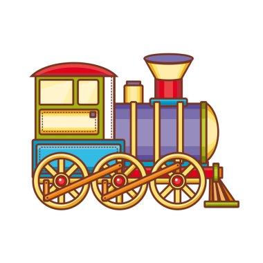 Vintage train vector icon.