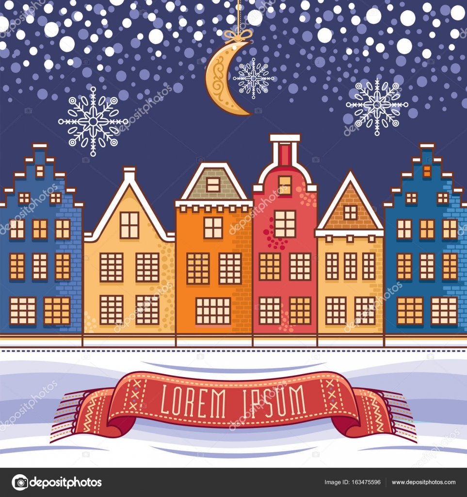Lindo sin diálogo Plantillas para tarjetas de Navidad — Vector de ...