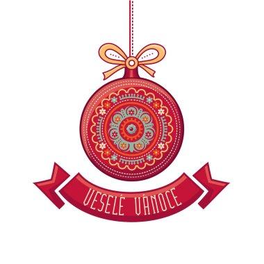 Czech language. Vesele Vanoce. Christmas message.