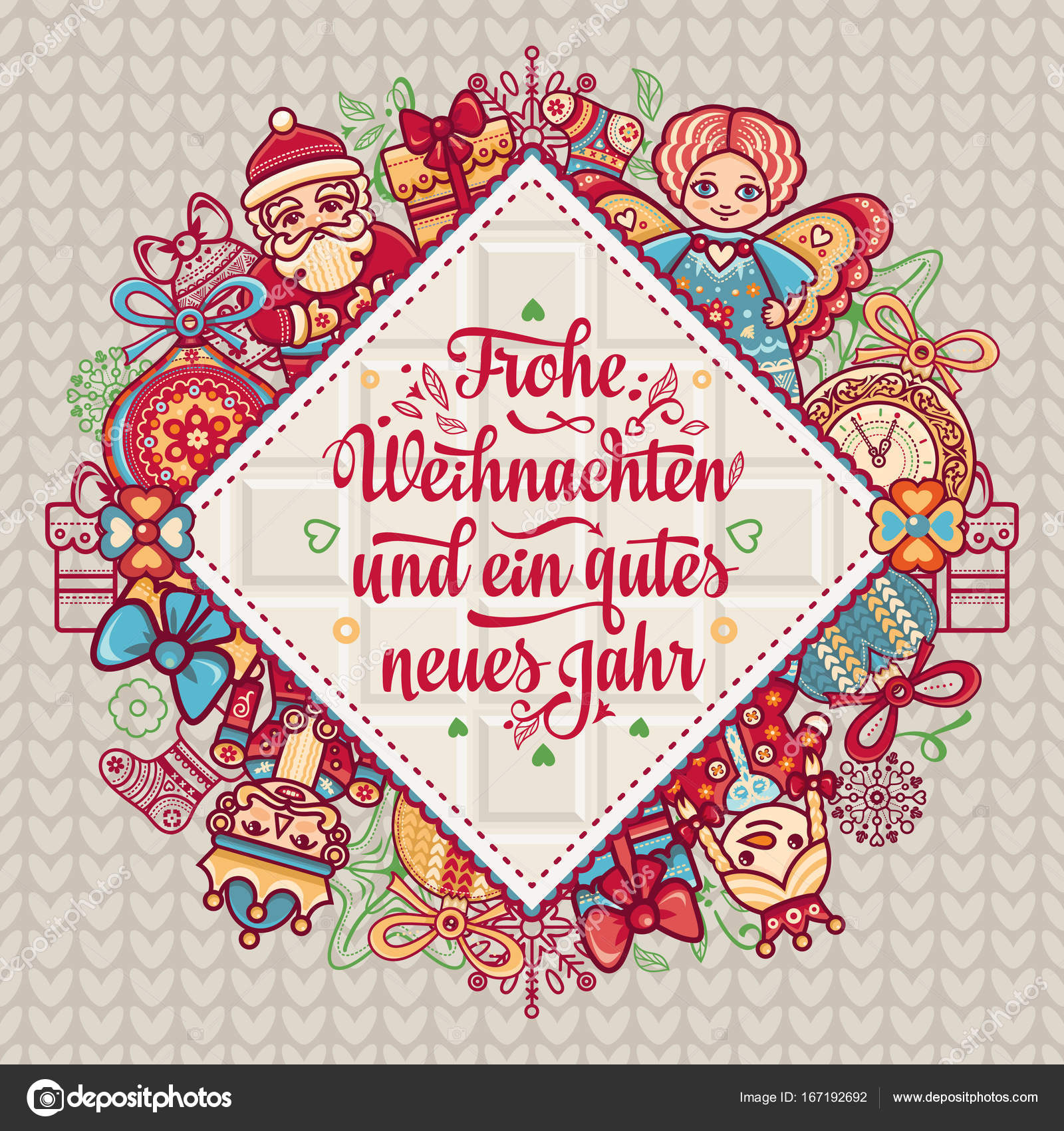 Frohe Weihnachten Schweiz.Frohe Weihnacht Xmas Congratulations In Germany Stockvektor Zzn