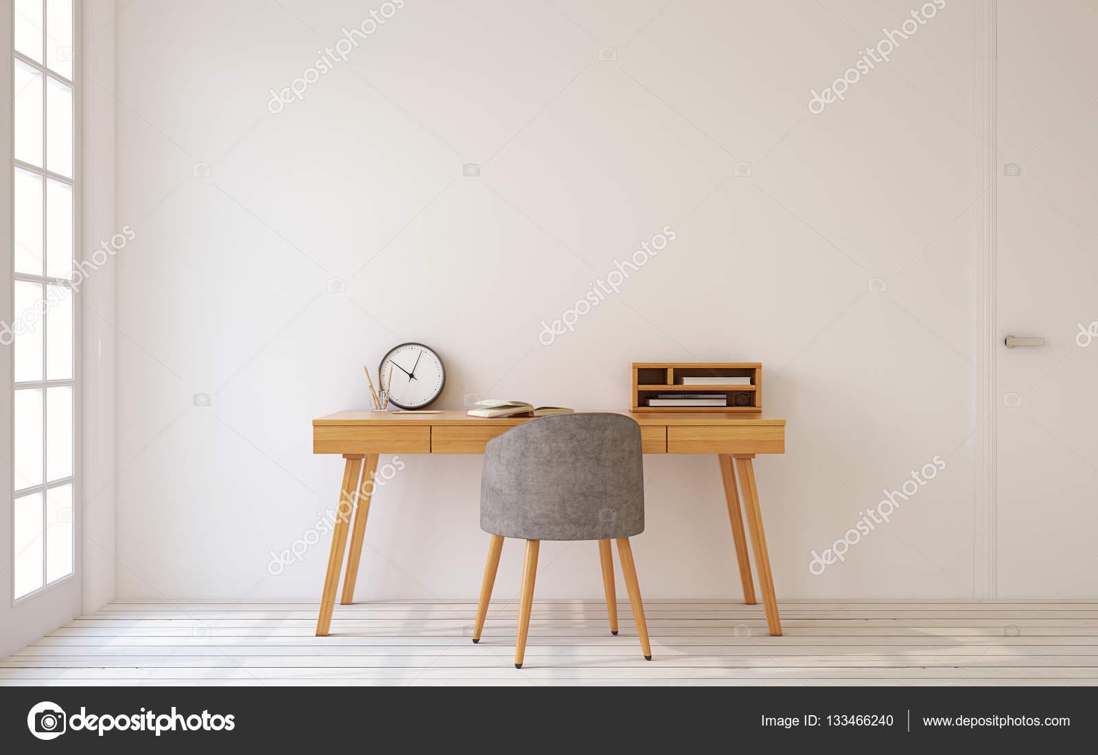 Kantoor aan huis interieur 3d render stockfoto poligonchik 133466240 - Kantoor aan huis outs ...