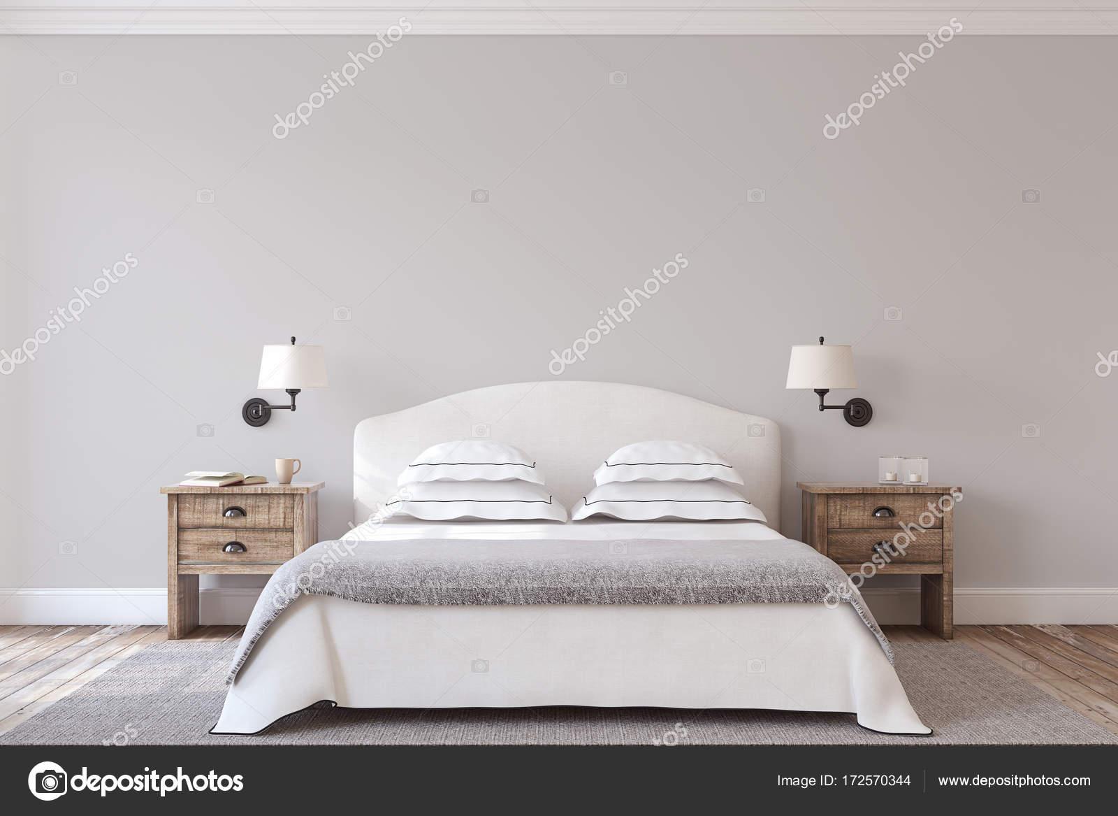 Schlafzimmer-Innenraum. 3D render — Stockfoto © poligonchik #172570344