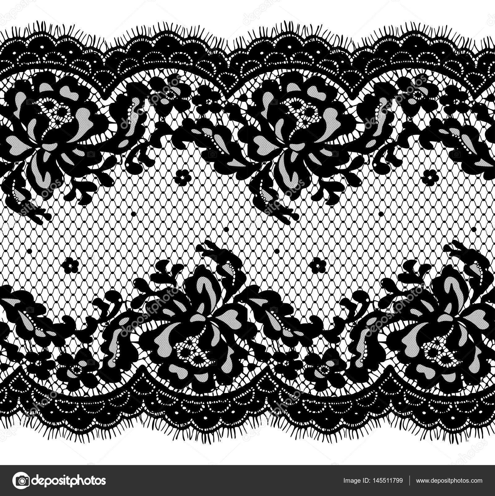 seamless black vector lace pattern stock vector maryswell 145511799 rh depositphotos com vector lace pattern free download vector wedding floral lace pattern