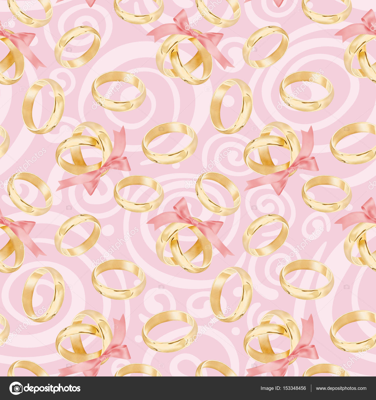 Seamless Watercolor Wedding Rings Pattern — Stock Photo © maryswell ...