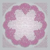 Modello di cornice di pizzo rosa vettoriale
