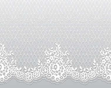Seamless White Vector Lace Pattern