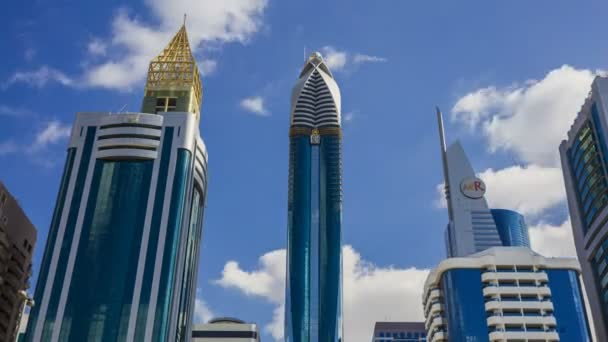 Mrakodrapy s vitrážovou fasád, moderní architektury a vysokých budov v Dubaji, Spojené arabské emiráty
