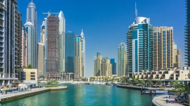 Panorama of Dubai marina residential district