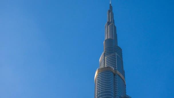 High angle view to a highest tower in the world, Burj Khalifa, Dubai UAE