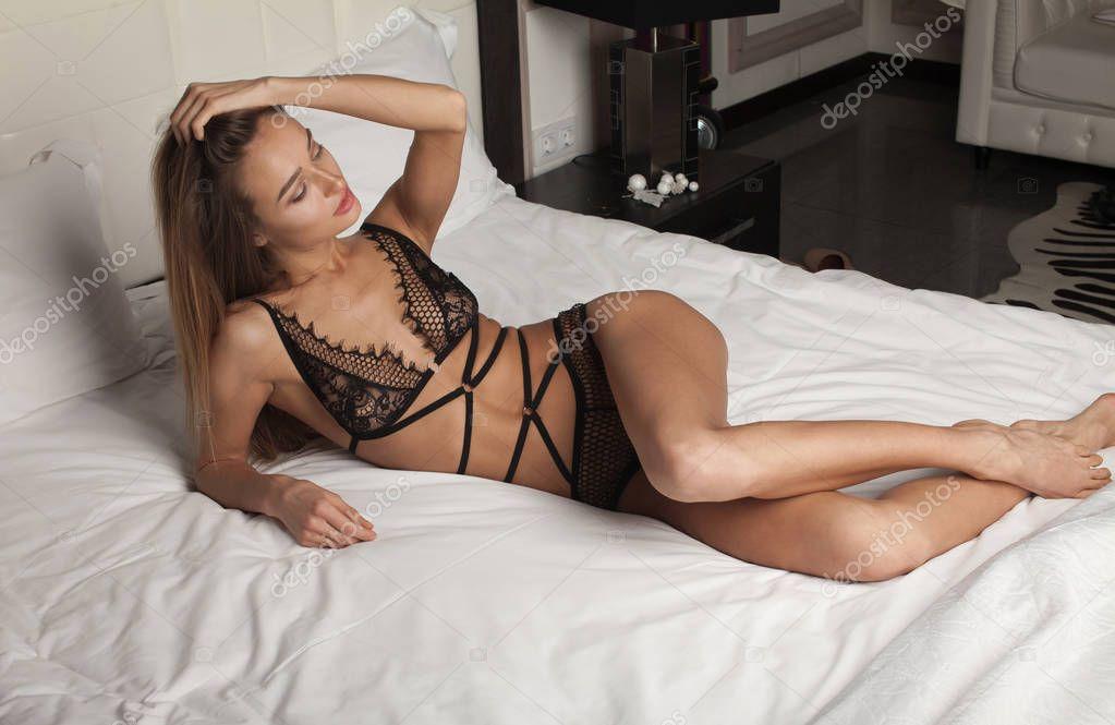 Sexy Frau Im Bett