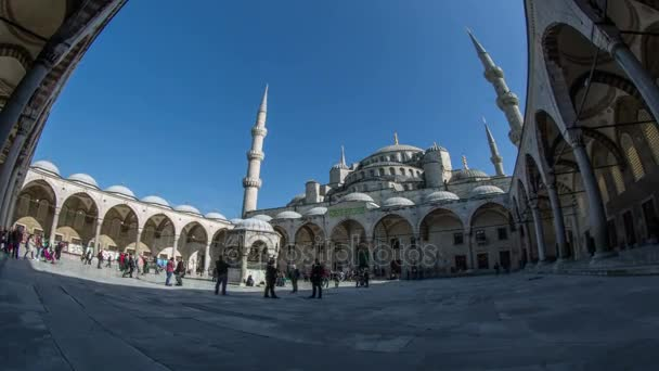 Ultra HD 4K time lapse photography Blue Mosque at Istanbul Turkey
