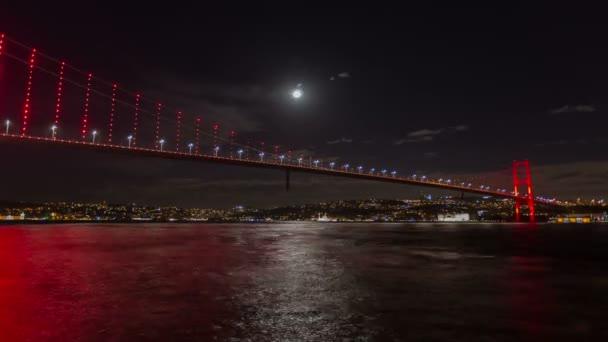 evening time Bosphorus Bridge at istanbul