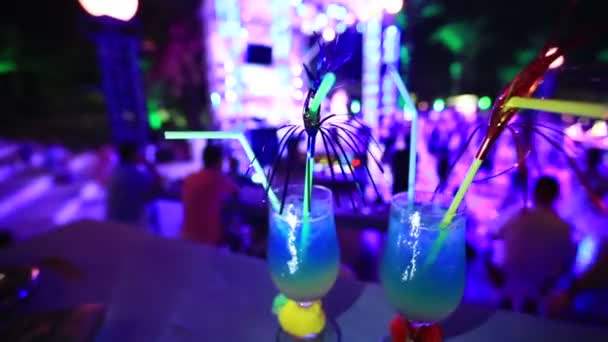 night club background with coctail glass