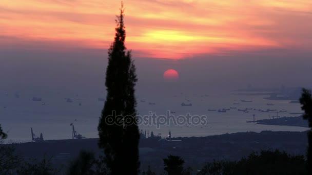 sunset at istanbul Turkey