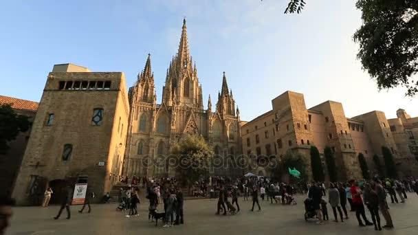 timelapse Cathedral de Barcelona