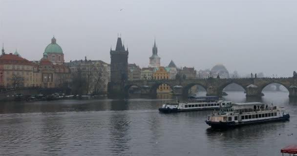 Timelapse Charles Bridge Old Town Praha