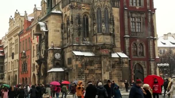 Původní orloj v centru náměstí Prahy, Česká republika 5