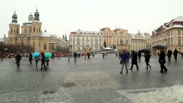 Staroměstské náměstí v Praze časová prodleva
