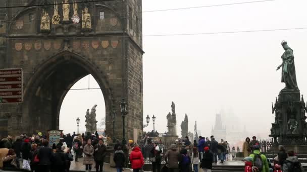 Karlův most v Praze, Česká republika 04 Únor 2017