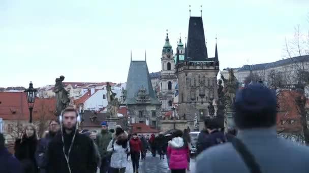 Karlův most a Pražský hrad časová prodleva 2