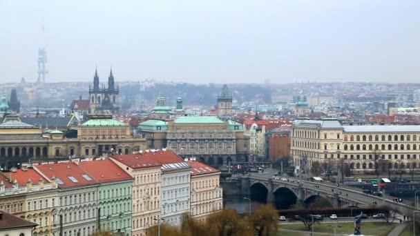 Zimní krajina architektury starého města pražského