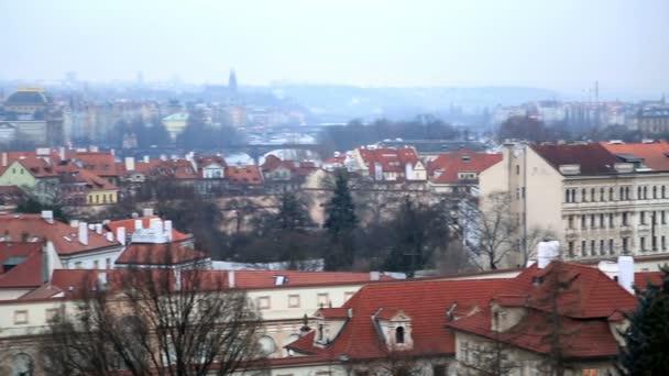 Arial pohled na město Praha 2