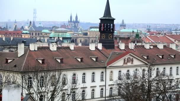 Arial pohled na město Praha 3