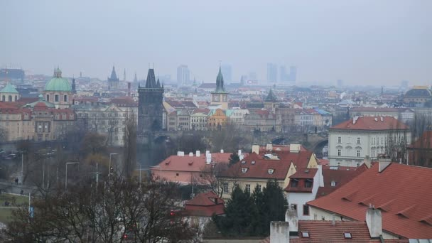 Arial pohled na město Praha 5