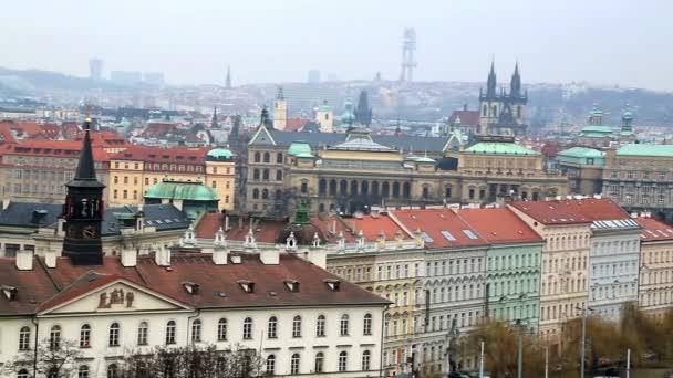 Arial pohled na město Praha