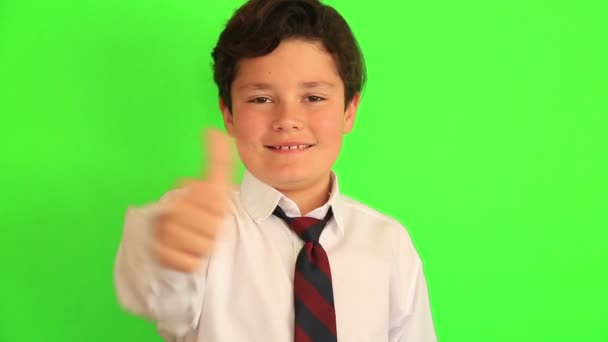 Young boy clapping