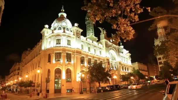 Noční pohled na město Valencia 2