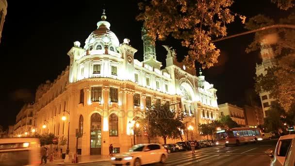 Noční pohled z města Valencia