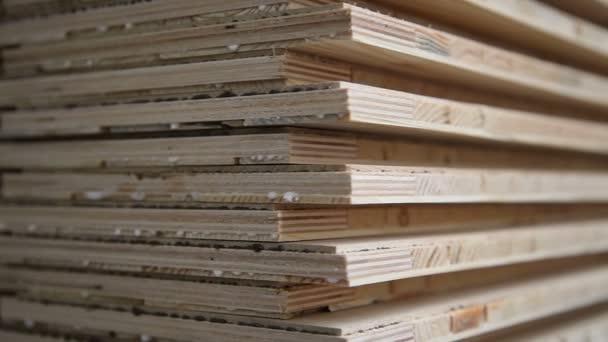 Impianti industriali per la produzione del laminato. Linea di produzione di  fabbrica di mobili. Pavimenti in laminato. La fabbrica per la produzione  del laminato.