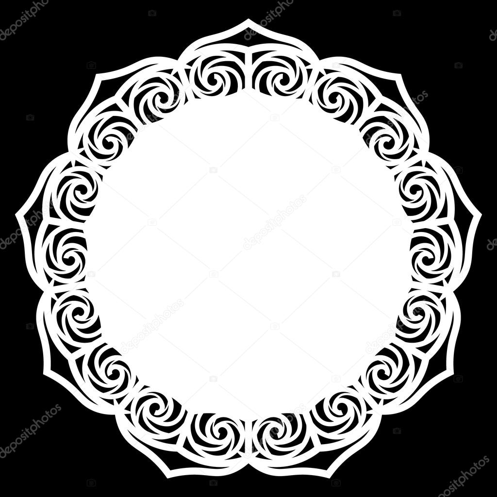 lace round paper doily lacy snowflake greeting element template rh depositphotos com vector lace pattern free vector lace pattern free