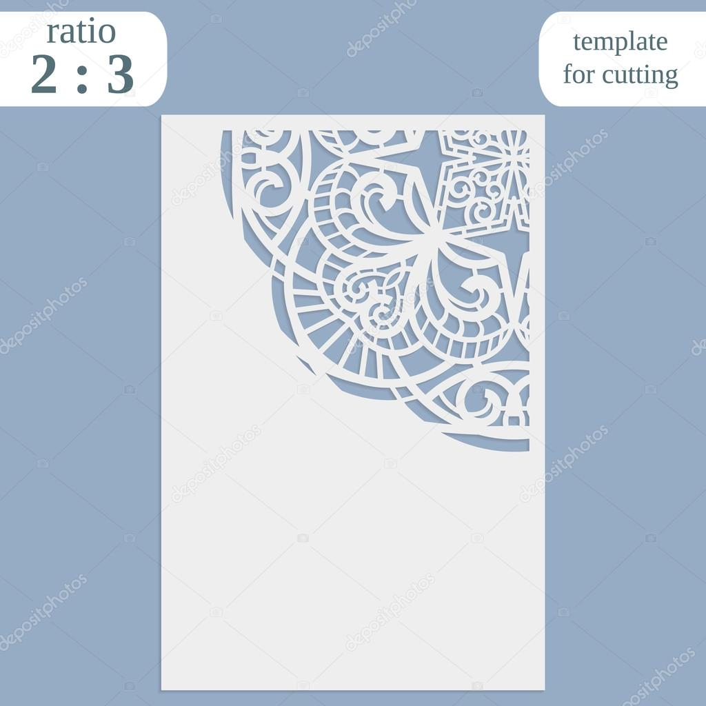 Laser cut wedding card template paper openwork greeting card laser cut wedding card template paper openwork greeting card template for cutting lace invitation lasercut metal panel wood carving vector stopboris Images