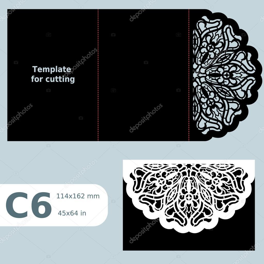 C6 Paper Openwork Greeting Card Wedding Invitation