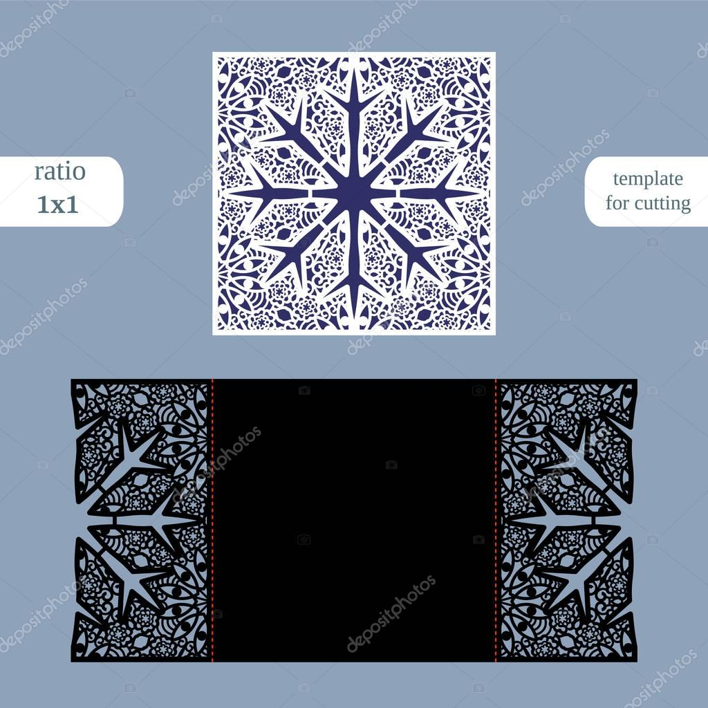 cut out the paper card with lace pattern greeting card template for cutting plotter congratulation to christmas or new year metal plate cut by laser